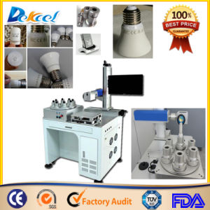 Desktop LED Bulb CNC Marker 30W Fiber Laser Marking Machine pictures & photos
