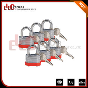 Metal Keyed Alike Steel Laminated Padlock with 19mm Shackle pictures & photos