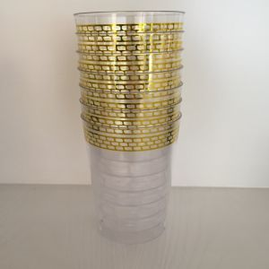 Plastic Cup, Glass, Mug, Tableware, PS, GB-01, Disposable, Hot, Cup, Printing, Gold pictures & photos