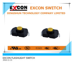 Ts205-B-4-Y Flashlight Tact Switch with Yellow Pushbutton