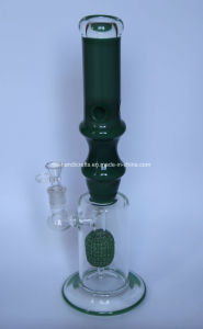 Green Bamboo Smoking Glass Pipes with Microphone Perc pictures & photos