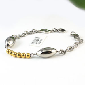 Wholesale Trendy Stainlesss Steel Transparent Crystal Bead Bar Bracelet pictures & photos