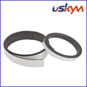 Extruded Flexible Magnetic Strip with Adheive Rubber Magnet pictures & photos