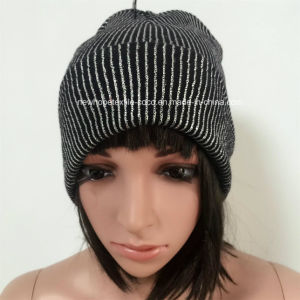 100% Acrylic Beanie with Paillette/Glittering, Turnover Hat pictures & photos