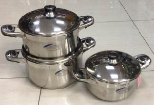 6 Sets of Stainless Steel Straight Cookware Set pictures & photos