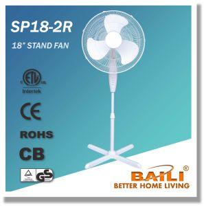 """Powerful, Hot Sale 18"""" Oscillating Stand Fan with Cross Base pictures & photos"""
