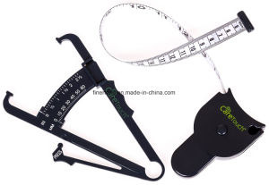 Skinfold Body Fat Caliper and Body Tape Measure Set pictures & photos