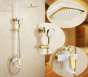 Bathroom Luxury Brass Rainfall Shower Set pictures & photos