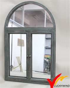 Vintage Style Antique Arched Shutter Window Mirror pictures & photos
