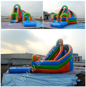 Curve Commercial Grade Inflatable Water Slide with Water Pool, Inflatable Slide, Inflatable Fun Slide B4133 pictures & photos