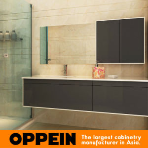 Oppein Classic Tempered Glass Bathroom Vanity (OP15-201B) pictures & photos