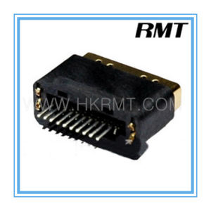 HDMI 19p a Type Female Without PCB Board Connector (RMT-160325-020) pictures & photos