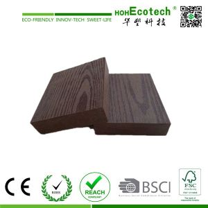 WPC Embossing Decking Without Groove pictures & photos