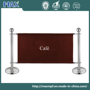 Stainless Steel Double Rope Pole Banner Barrier pictures & photos