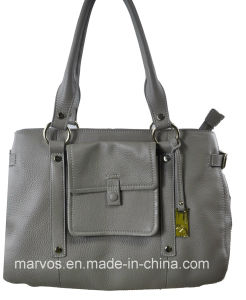 Classical Ladies′ Leather Handbag (M10545)