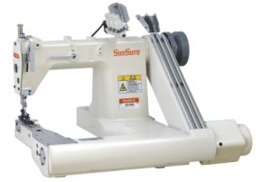 Direct Drive High-Speed Double Needle/Three Needle Feed-off-The-Arm Chainstitch Machine pictures & photos