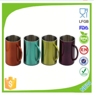 Metal Coffee Cup with Rubber Handle pictures & photos