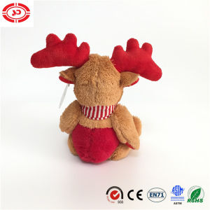 Brown Moose Sitting Animal Embroidered Plush Soft Gift Kids Toy pictures & photos