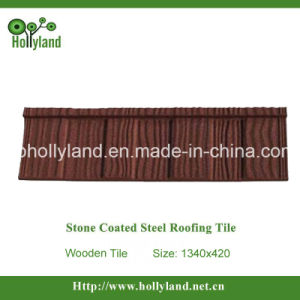Stone Coated Metal Roof Tile (Wooden Type Tile) pictures & photos