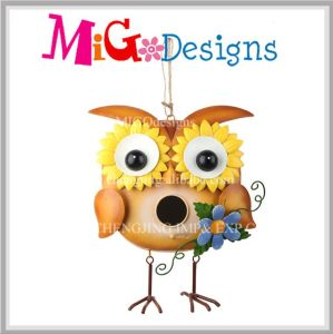 Use Hanging Likable Owl Metal Garden Bird Feeder pictures & photos
