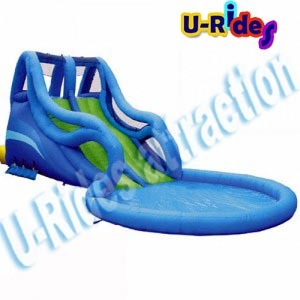 Inflatable Water Slide with Pool pictures & photos