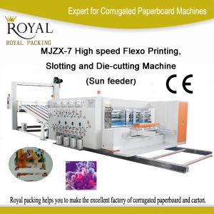 Mjzx-7 High Speed Flexo Printing, Slotting and Die-Cutting Machine (Sun feeder) pictures & photos