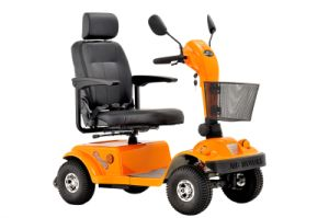Four Wheels Hand Break Mobility Scooter Eml46A pictures & photos