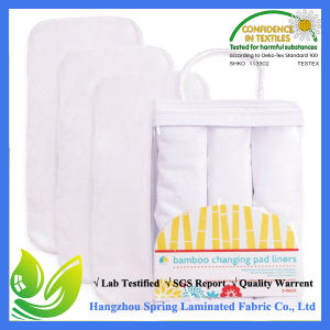 Hypoallergenic Machine Washablebamboo Changing Pad Liners for Baby pictures & photos