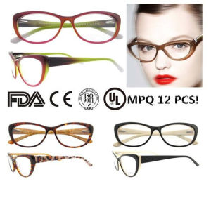 Fashion Cat Eye Glasses Optical Frame with Spring Hinges pictures & photos