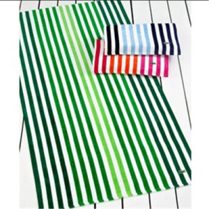 Cotton Velour Stripe Soft Bath Towel Beach Towel pictures & photos