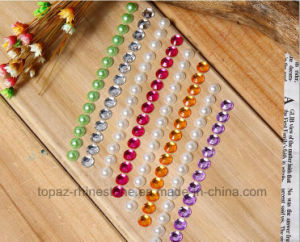 3mm Acrylic Stone Sticker Pearl Sticker for Children DIY (TS-509 pearl and acrylic) pictures & photos