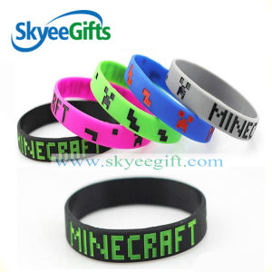 Custom Debossed Glow Silicon Bracelet for Bar No MOQ pictures & photos