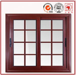 Foshan Aluminium Window Walnut Wood Grain Windows pictures & photos