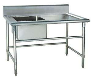 Stainless Steel One Sink Worktable pictures & photos