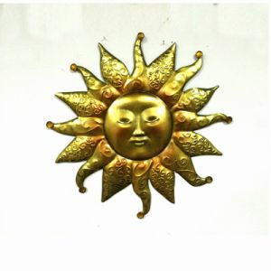 Traditional Sun Face Garden Metal Wall Decoration
