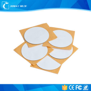 White Dia 30mm Ntag213 13.56MHz ISO14443A NFC Label pictures & photos