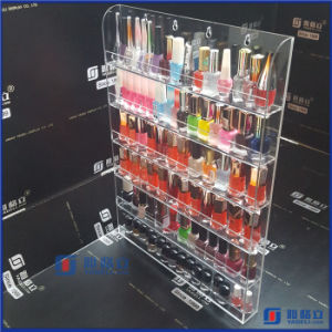 Clear Acrylic Nail Polish Salon Wall Display Storage Rack pictures & photos