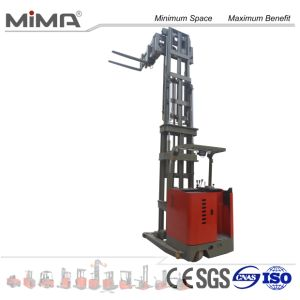 3-Way Electric Pallet Stacker with Side Slide Battery pictures & photos