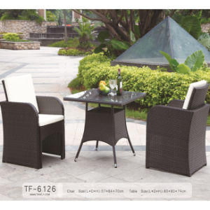 Top Material Poly Rattan Patio Dining Table and Chairs Outdoor Dining Table Set pictures & photos