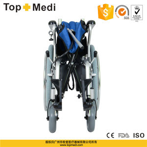 Topmedi Aluminum Folable Standard Electric Power Wheelchair pictures & photos