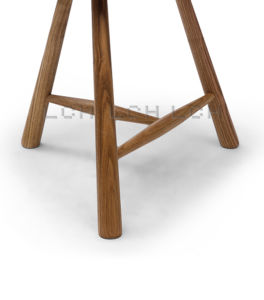 Wood Hay Barstool with Wooden Legs pictures & photos