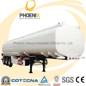 Wholesale 3axle 60cbm Fuel Petrol Diesel Oil Tanker with Trailer pictures & photos
