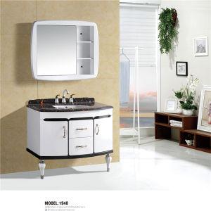 Modern Floor Stading Pvc Bathroom Cabinet With Mirror