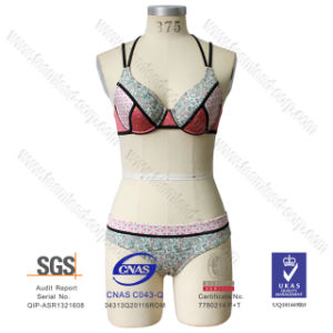 Newest Women′s Push up Halter Neoprene Bikini Swimsuit Swimwear pictures & photos