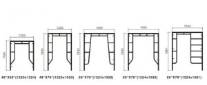 Movable Iron Modular Scaffolding pictures & photos