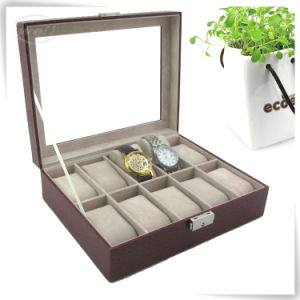Factory Price PU Leather Wrist Watch Box Organiser