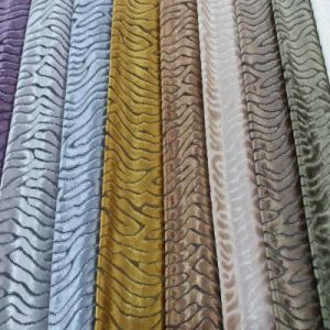 Polyester Textile Upholstery Sofa Woven Cut Velvet Fabric pictures & photos