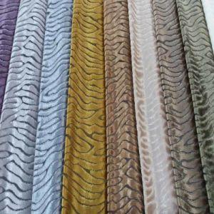 Polyester Textile Upholstery Sofa Woven Cut Velvet Fabric