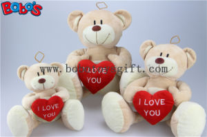 China Manufactured Big Feet Teddy Bear Toy with Red Heart Bos1118 pictures & photos