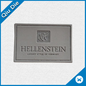 Custom Logo Embossed Leather Patch Label for Garments and Jeans pictures & photos